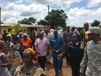 Gbarpolu Citizens present concerns to Government as Internal Affairs Minister visits the County